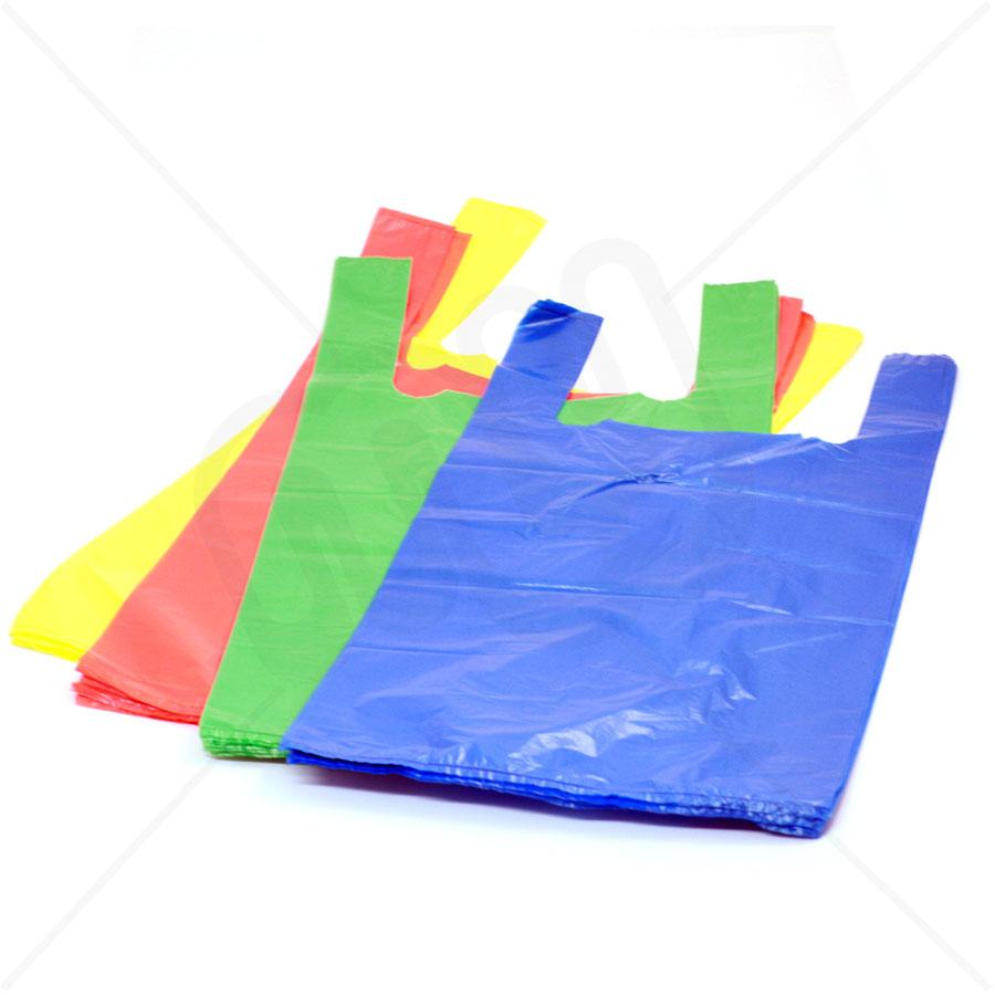 Plastic bags prowling lions for Plastic t shirt bag